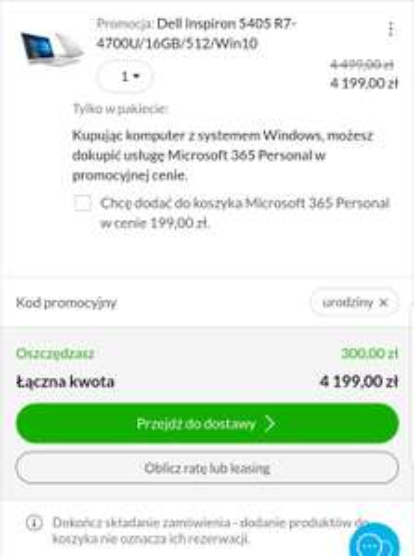 Dell Inspiron 5405 + możliwe bonusy!