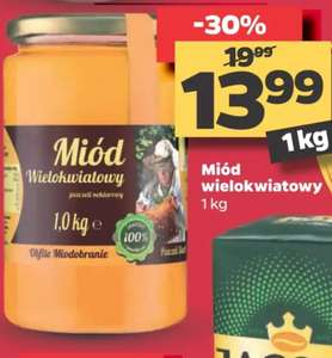 Miód wielokwiatowy 1kg w Netto