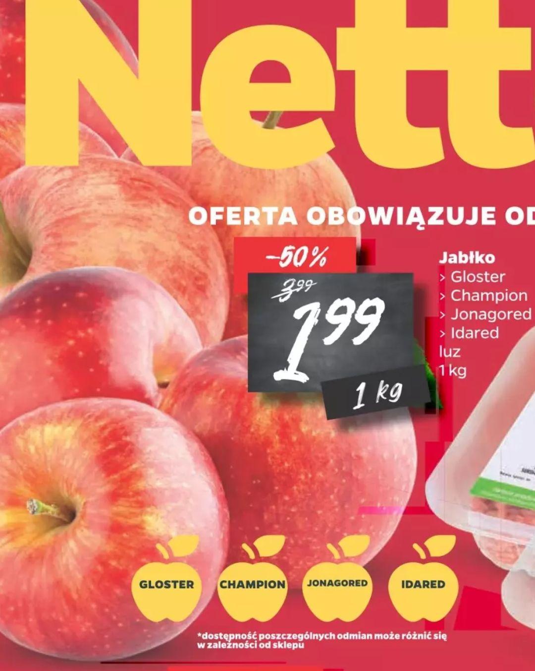 Jabłka w Netto