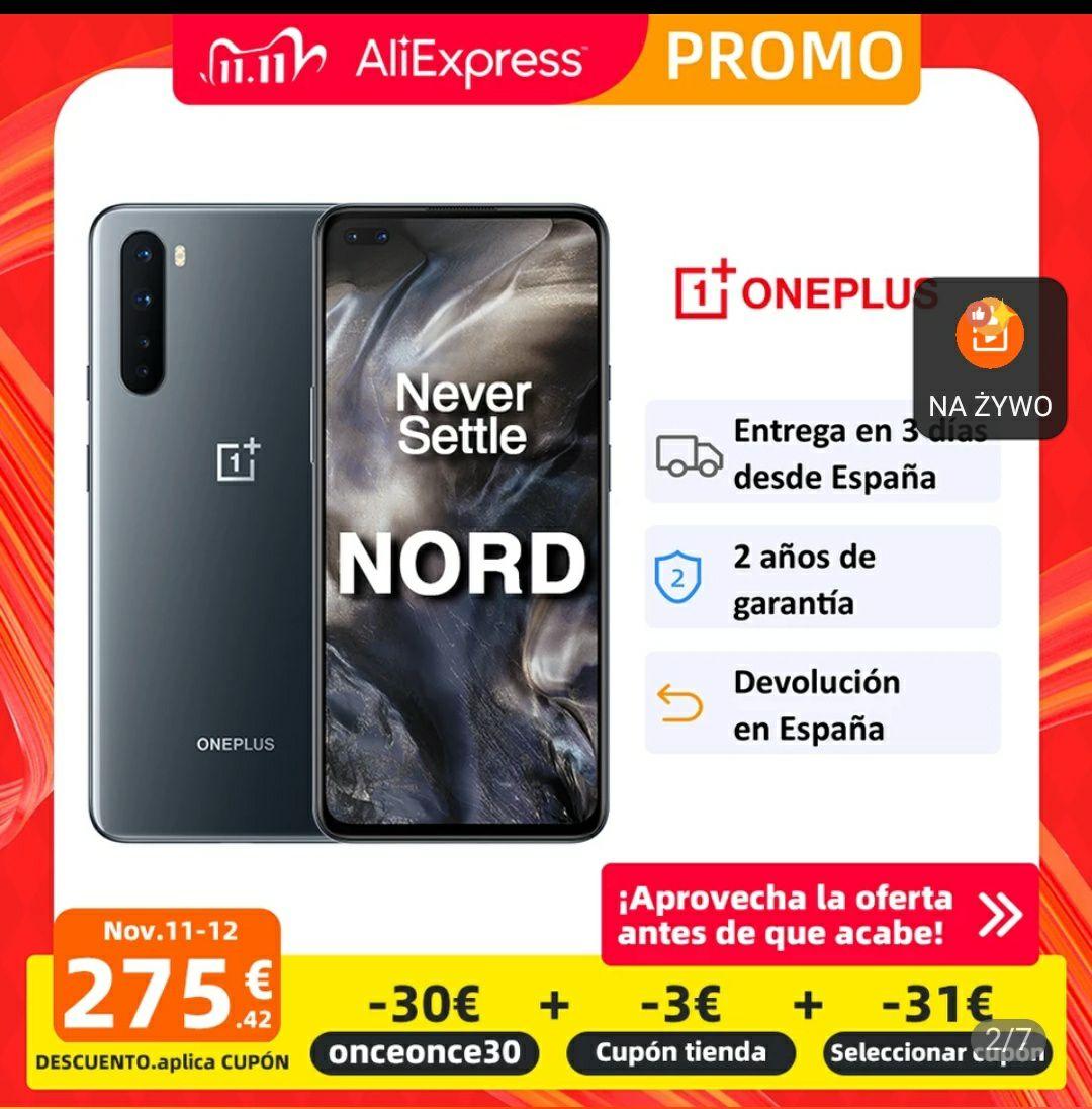 OnePlus NORD za 1272zł , wysyłka z Hiszpanii , Aliexpress 11.11
