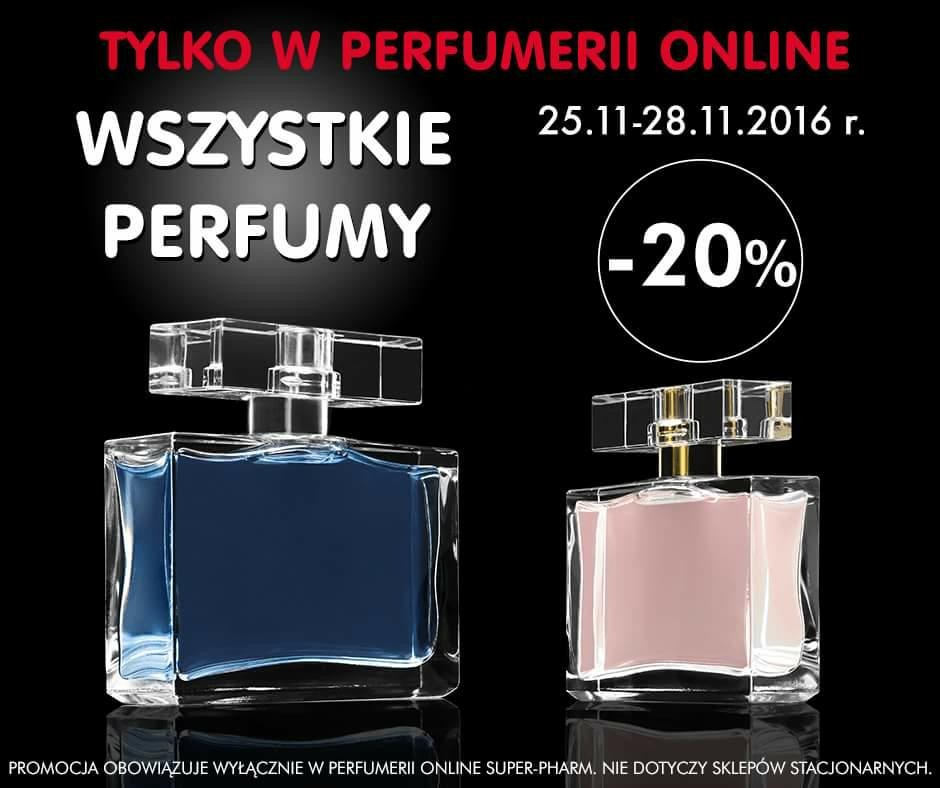 Wszystkie perfumy -20% @Super pharm online