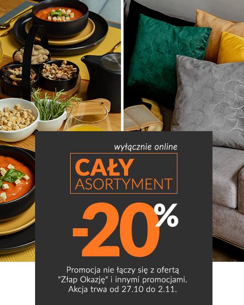 20% Rabatu na cały asortyment w Homla - tylko online