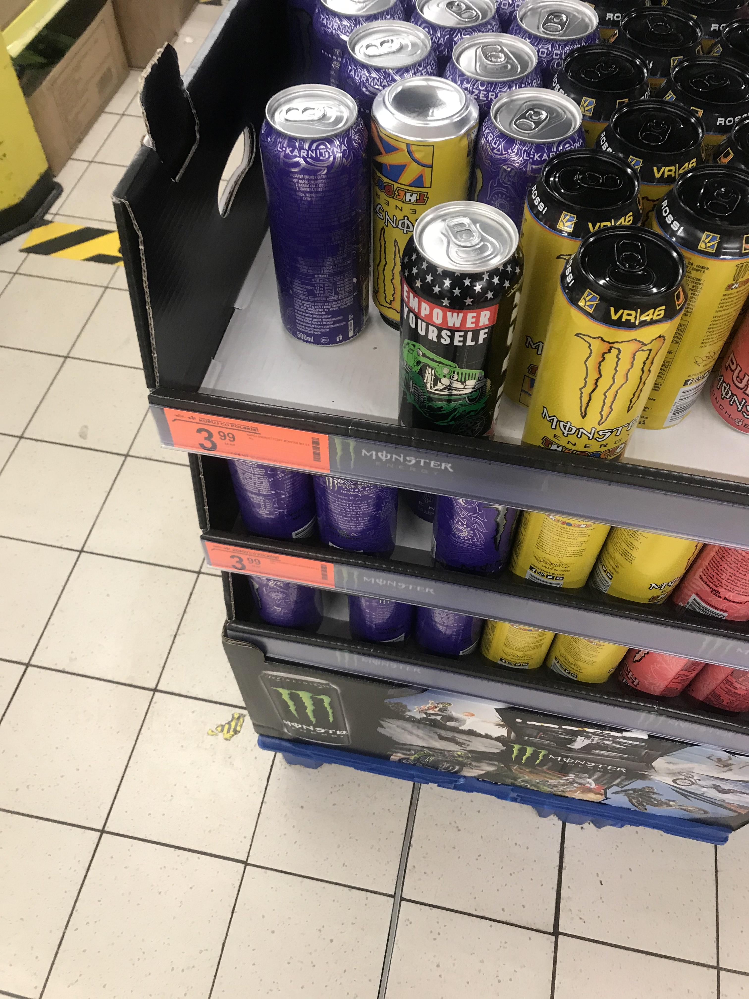 Monster energy 500ml 3,99zl