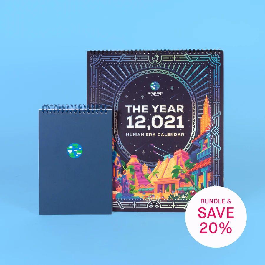 Holograficzny Kalendarz na 12,021 oraz Notatnik - Kaurzgesagt