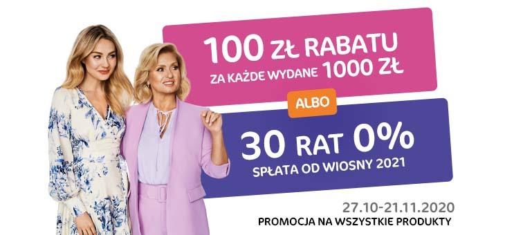 100 zł rabatu za każdy wydany 1000 zł - Agata Meble