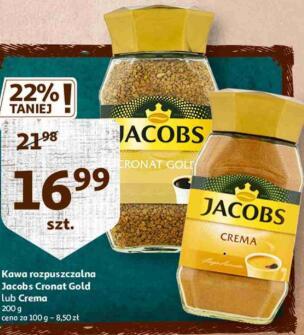 Kawa rozpuszczalna Jacobs Cronat Gold lub Crema