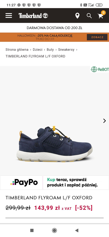 Timberland FLYROAM L/F OXFORD buty dziecięce