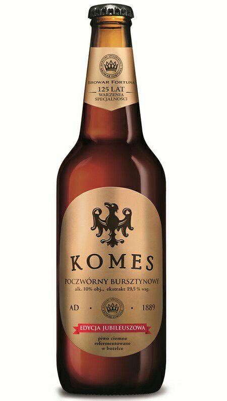 Piwo Komes Poczwórny Bursztynowy 10% 0,5l. Aldi
