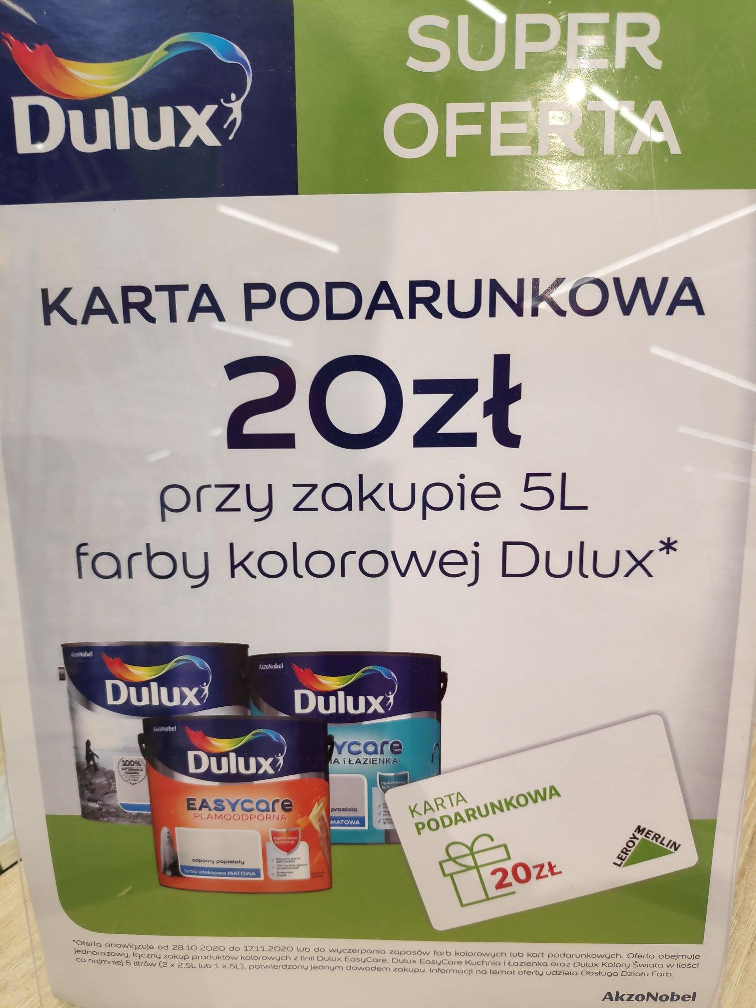 Promocja na Dulux w Leroy Merlin + karta podarunkowa 20zł