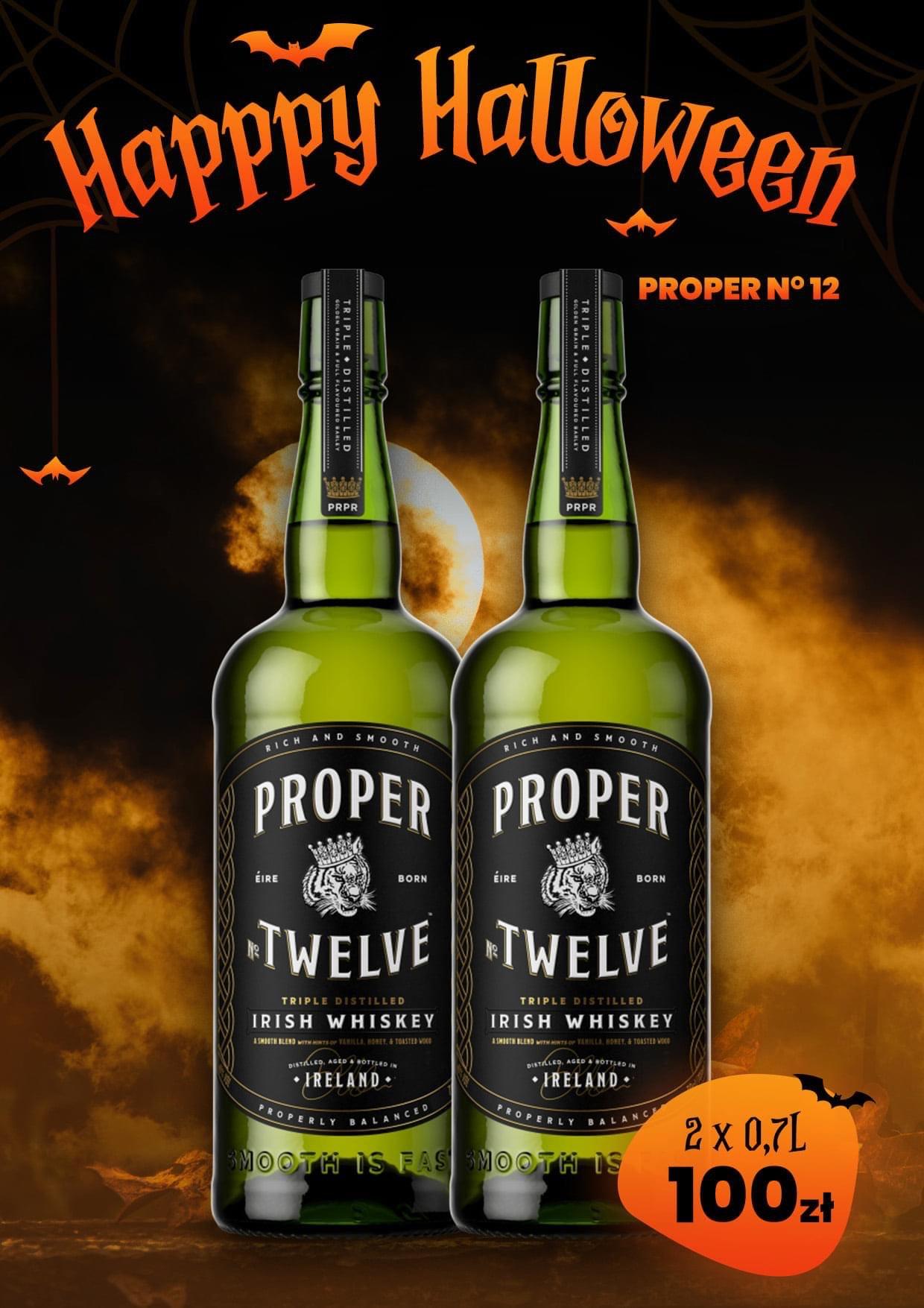 Whisky Proper Twelve 0,7l - 50 zł za butelkę przy zakupie 2 szt.