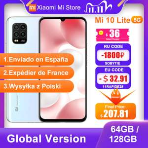 Xiaomi MI 10 Lite 5G (6/128GB) AMOLED Aliexpress z PL