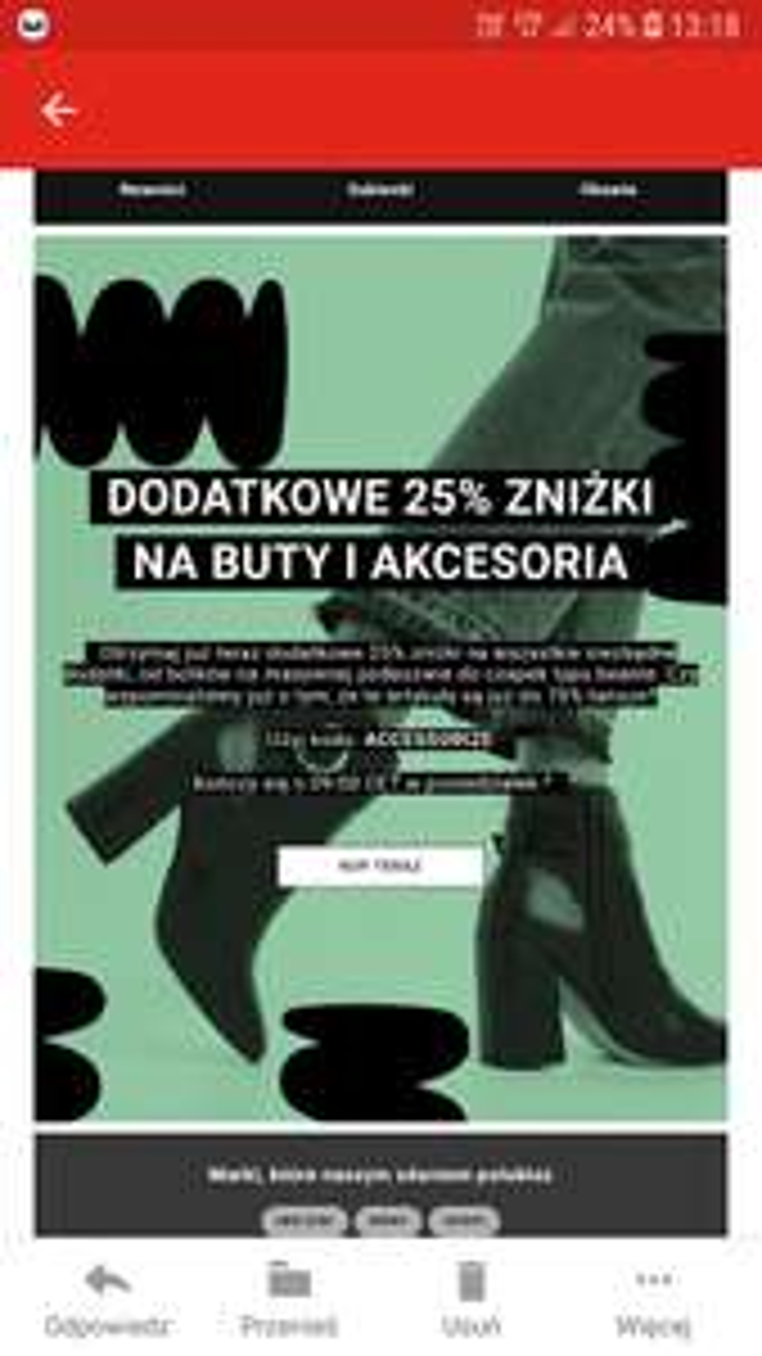 -25% na buty i akcesoria Asos