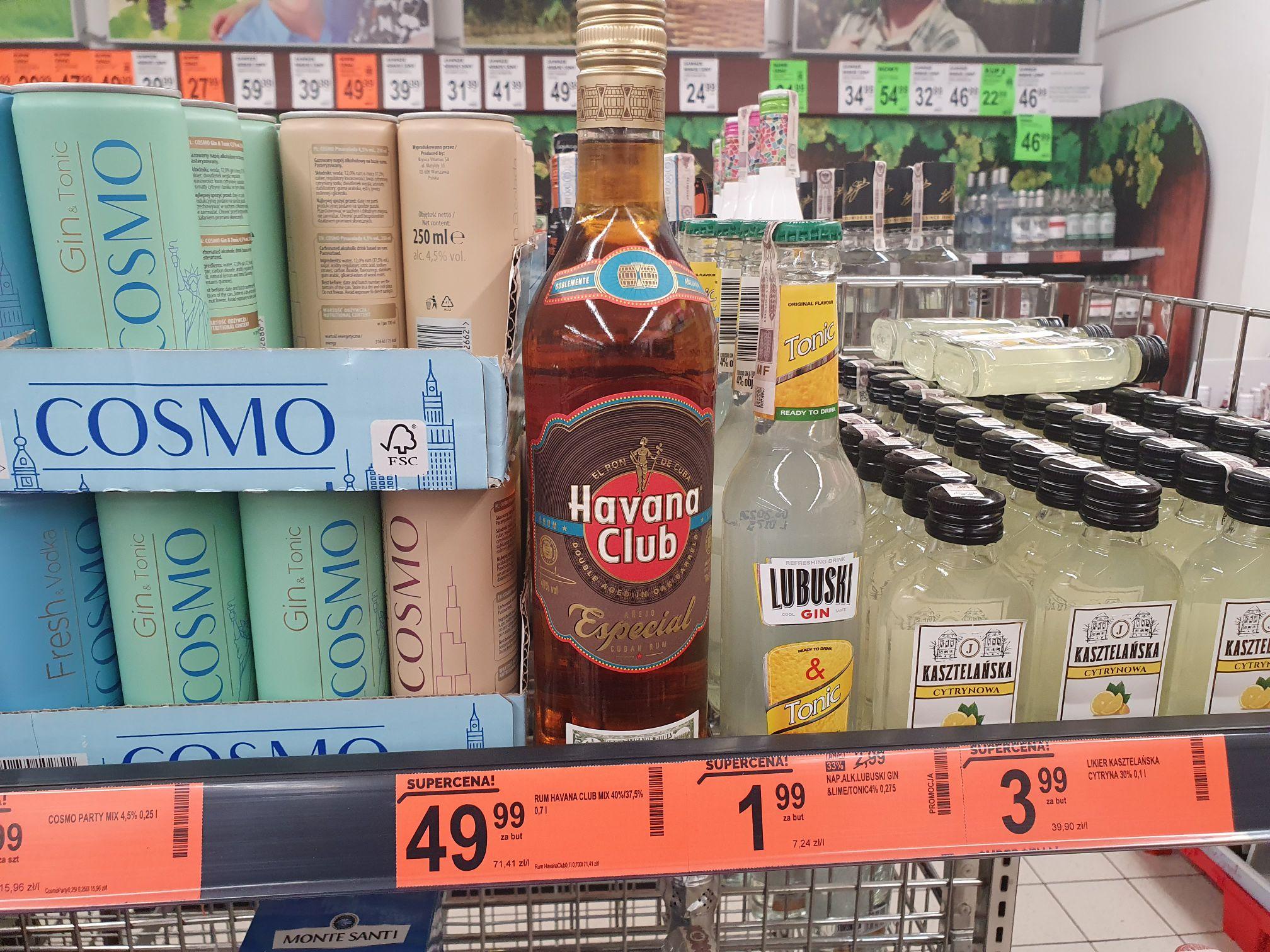 Rum Havana Club 2 rodzaje Biedronka