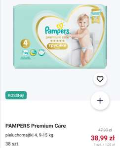 Promocja na Pampers pants premium care w Rossman