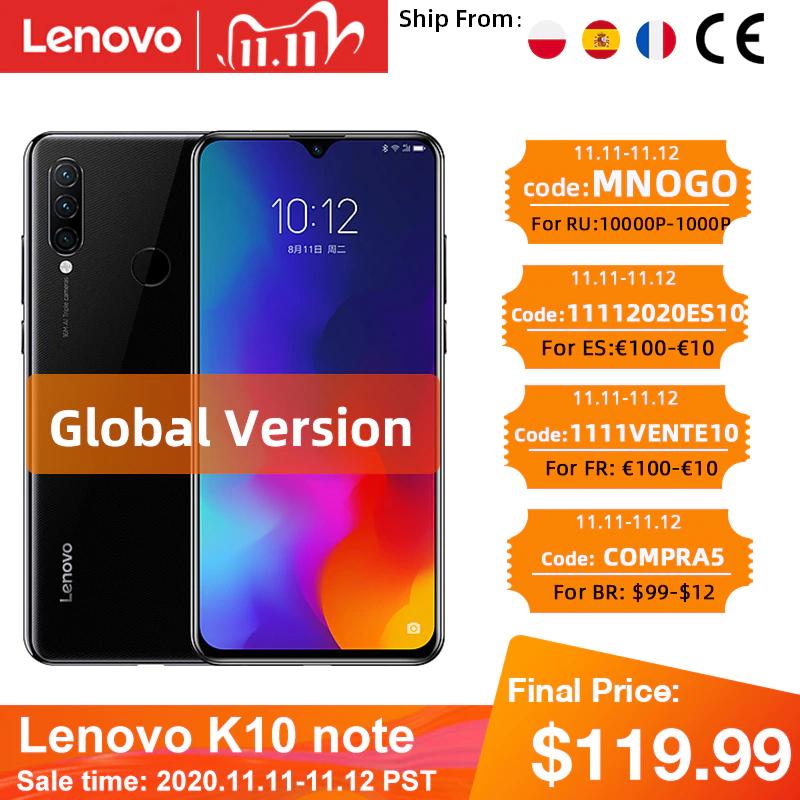 Lenovo K10 Note (Z6 Lite) 4/64 Snap710 z Hiszpanii lub Polski @ AliExpress