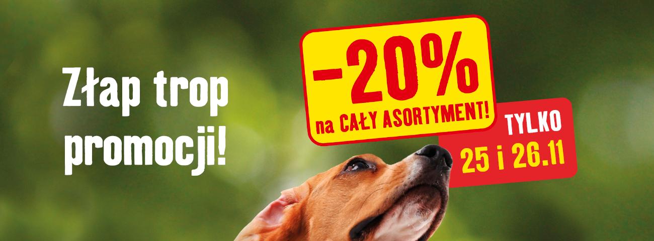 20% rabatu na wszystko @ Maxi Zoo