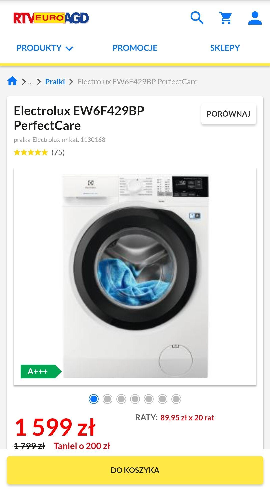 Pralka Electrolux PerfectCare EW6F429BP