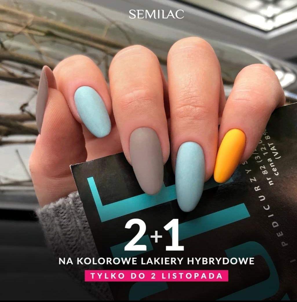 2+1na kolorowe lakiery hybrydowe Semilac