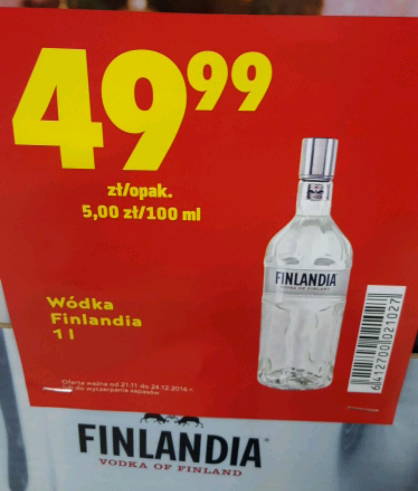 Finlandia 1l za 49.99 w Biedronce
