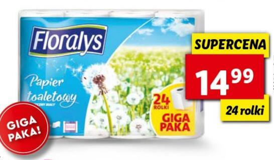 Papier toaletowy Floralys 3-warstwowy (24 rolki)