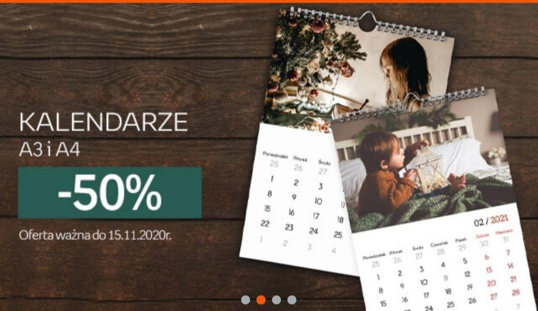 Empik foto kalendarze ścienne -50% A4 oraz A3 darmowa dostawa MZ 50zł