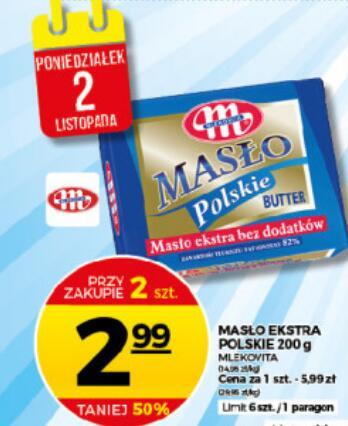 2x Masło Polskie ekstra 200 g