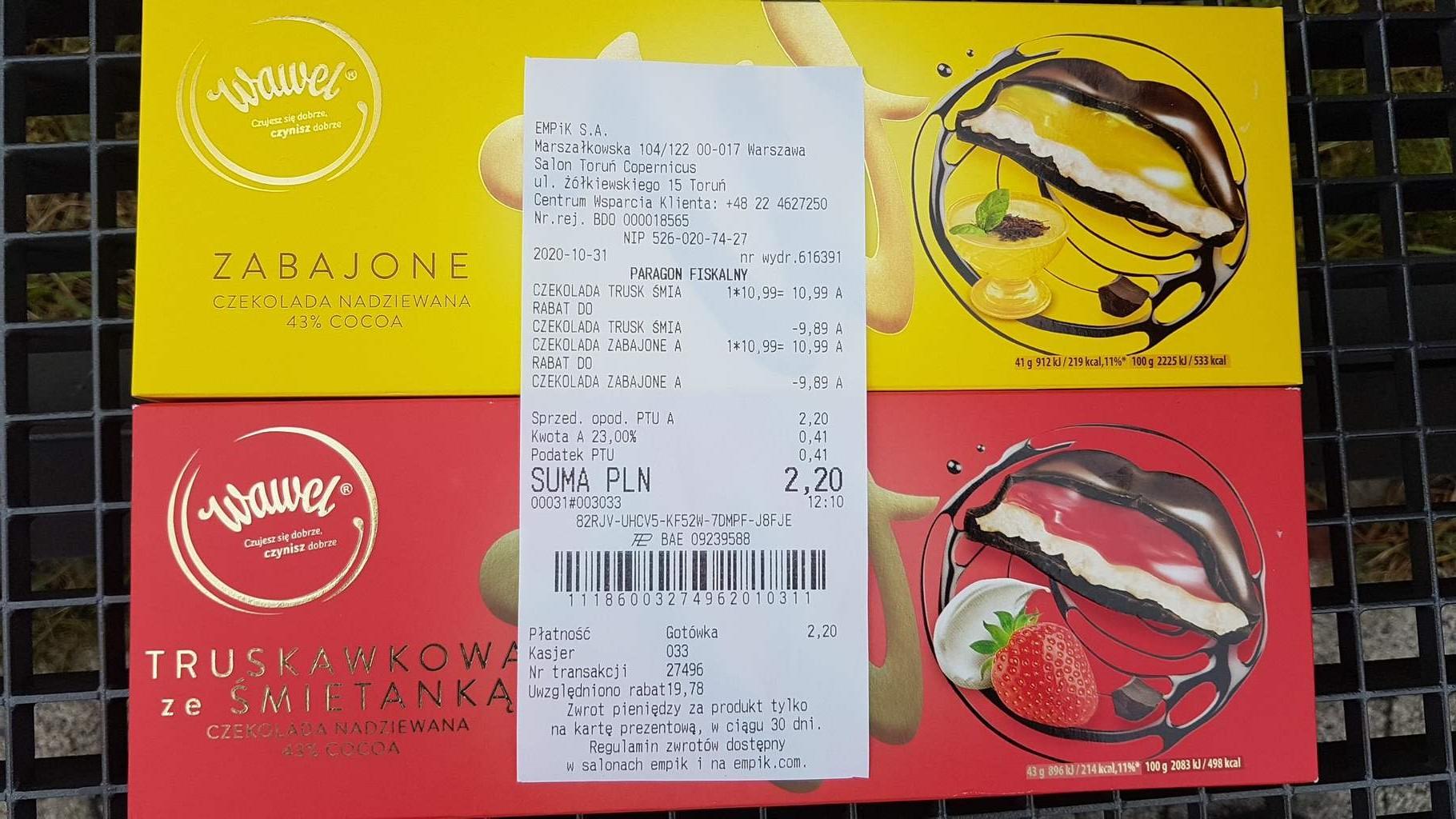 czekolada Wawel 300g truskawkowa lub zabajone w Empik