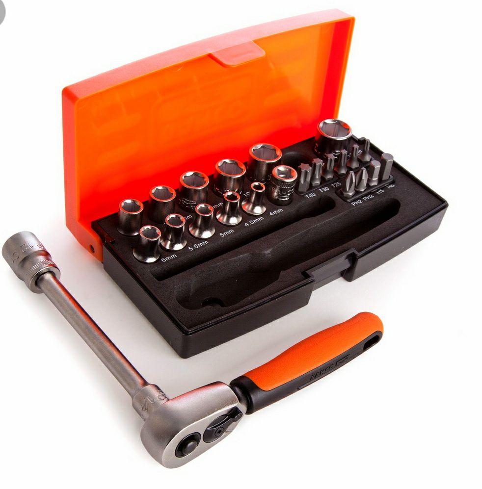 """Zestaw kluczy nasadowych i bitów 1/4"""" (25szt.) SL25 BAHCO (możliwe 89,90 zł)"""