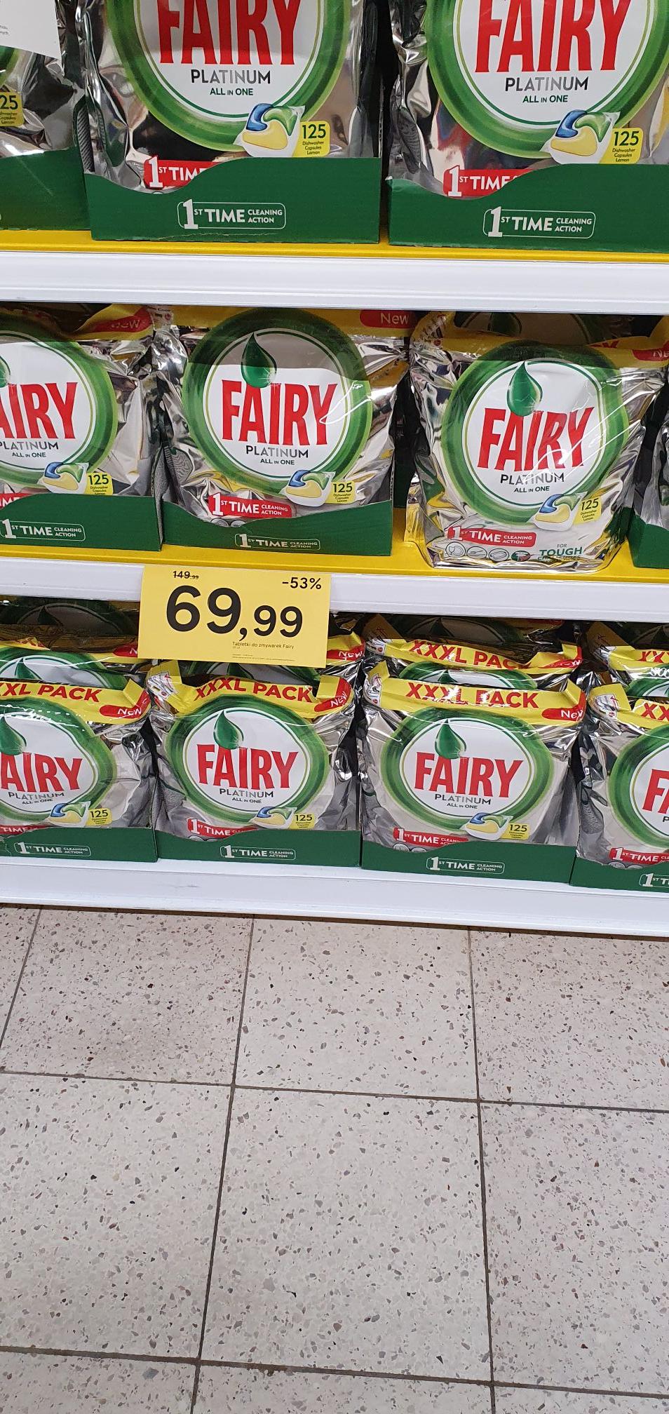 Fairy/ Dreft Platinum do zmywarki 125 szt @ Tesco
