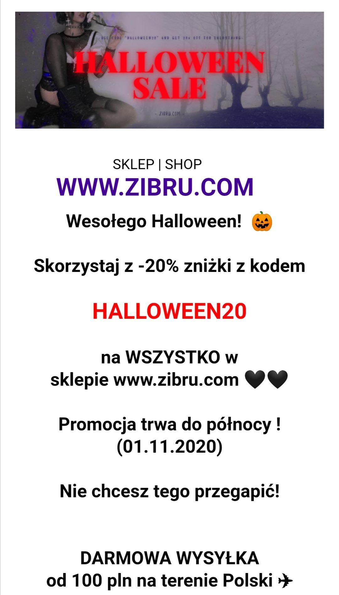 Rabat - 20% na wszystko w sklepie Zibru