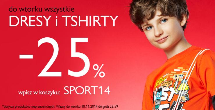 Dresy i T-shirt 25% taniej @ 5.10.15.