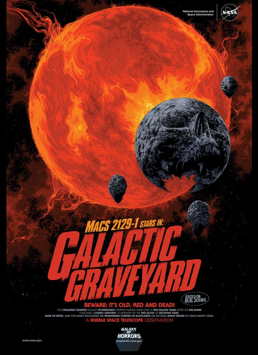 Darmowe plakaty do druku (high-res) od NASA z okazji Halloween