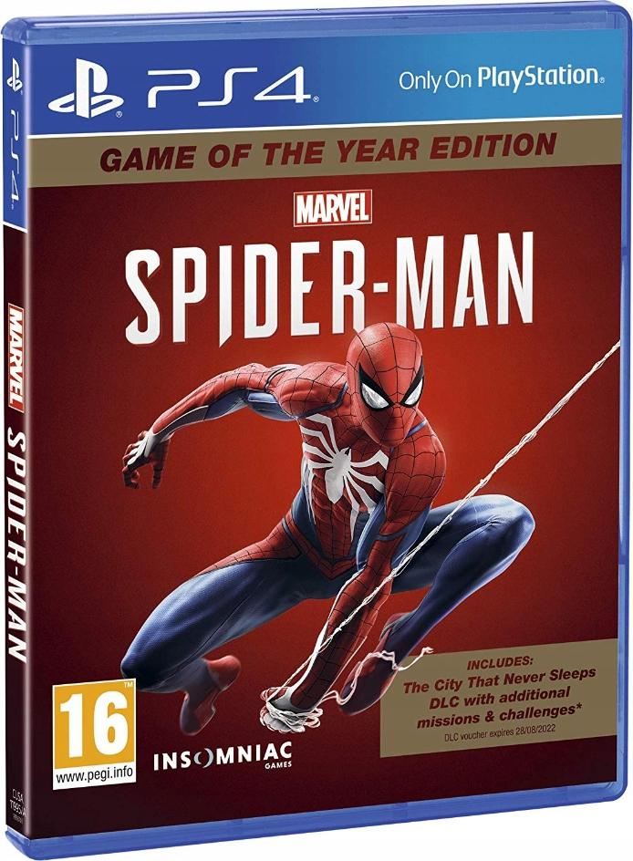 PS4 MARVEL SPIDERMAN PO POLSKU / SPIDER-MAN GOTY + 4 monety