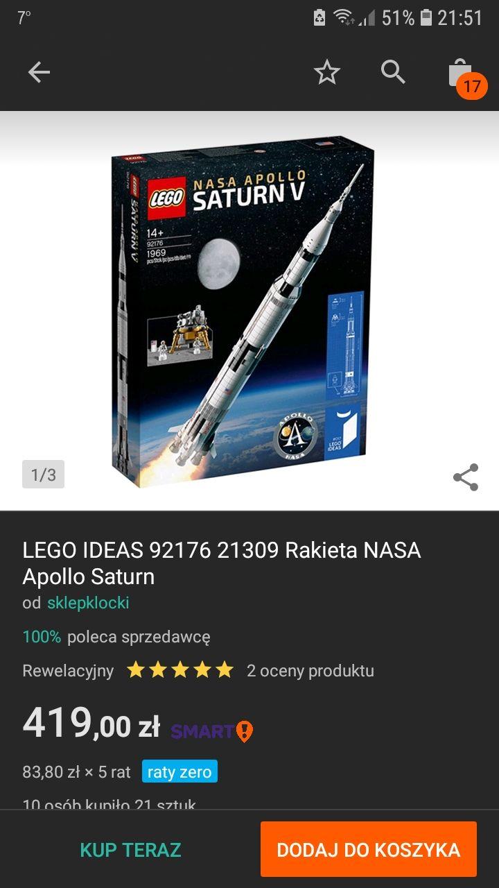 LEGO IDEAS 92176 Rakieta NASA Apollo Saturn - przegląd ofert