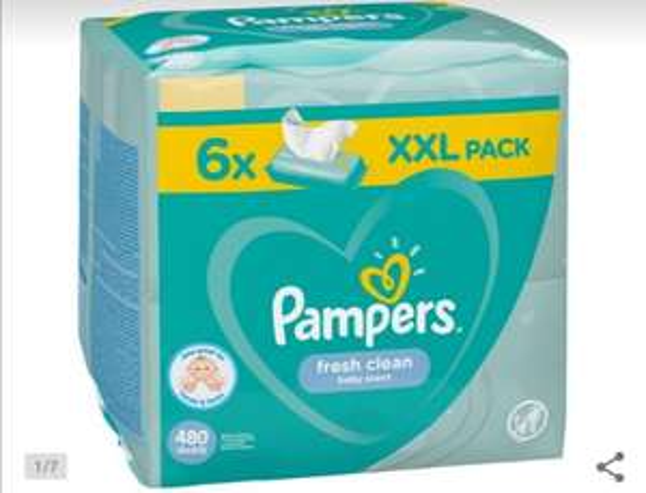Pampers Chusteczki fresh clean 6 x 80 szt