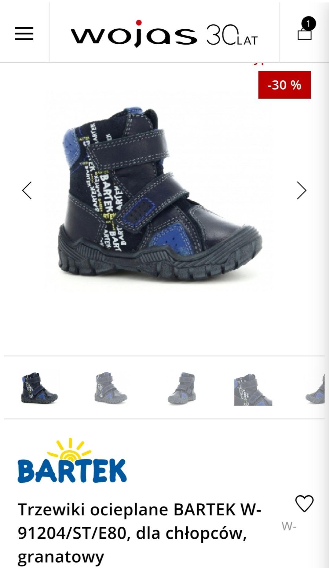 Trzewiki ocieplane Bartek dla chłopców. W opisie propozycja butów damskich i męskich.