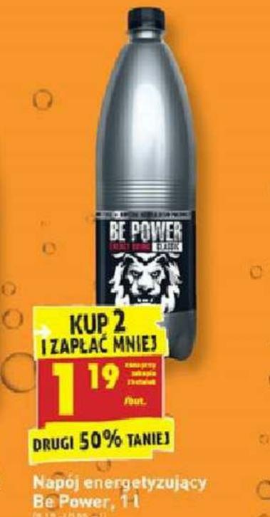 Napój energetyzujący Be Power 1L przy zakupie 2 szt. Biedronka
