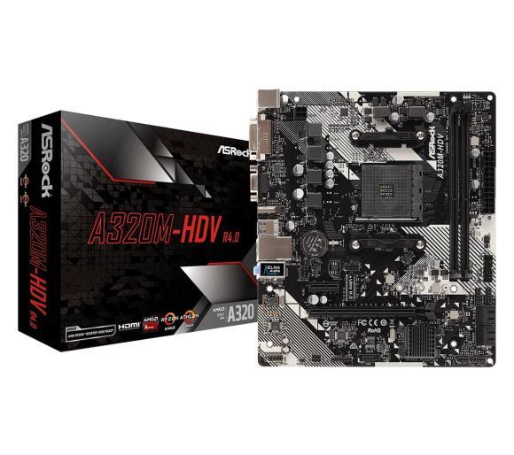 Płyta główna ASrock A320M-HDV R4.0 AM4 AMD