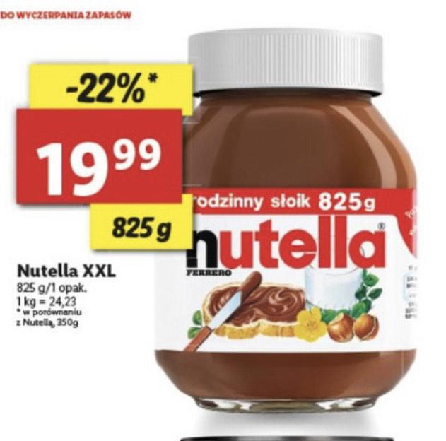Nutella XXL 825g w Lidlu