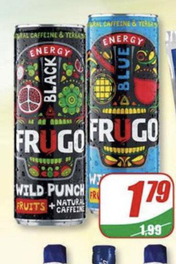 FRUGO napój energetyczny z naturalną kofeiną w DINO