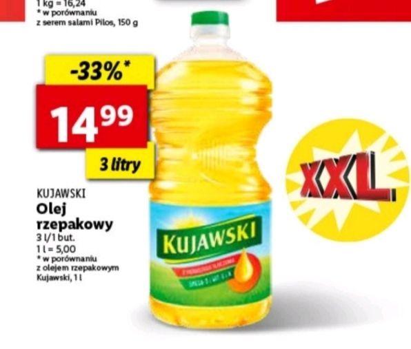 Olej Kujawski rzepakowy Lidl 3L