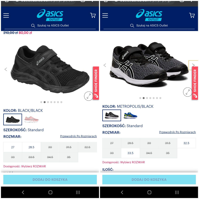Dziecięce buty Asics: contend 5 ps, gt-1000