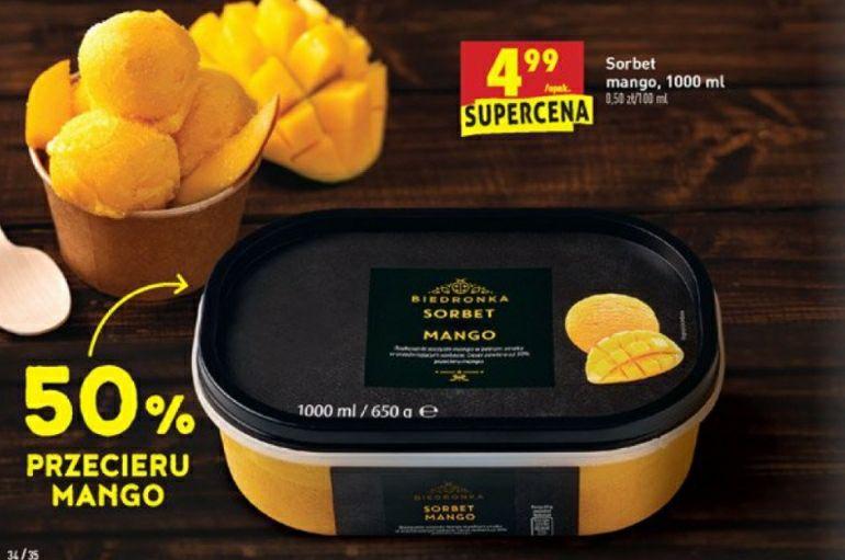 Sorbet Mango biedronka