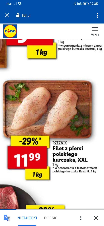 Filet z piersi kurczaka opakowanie XXL lidl