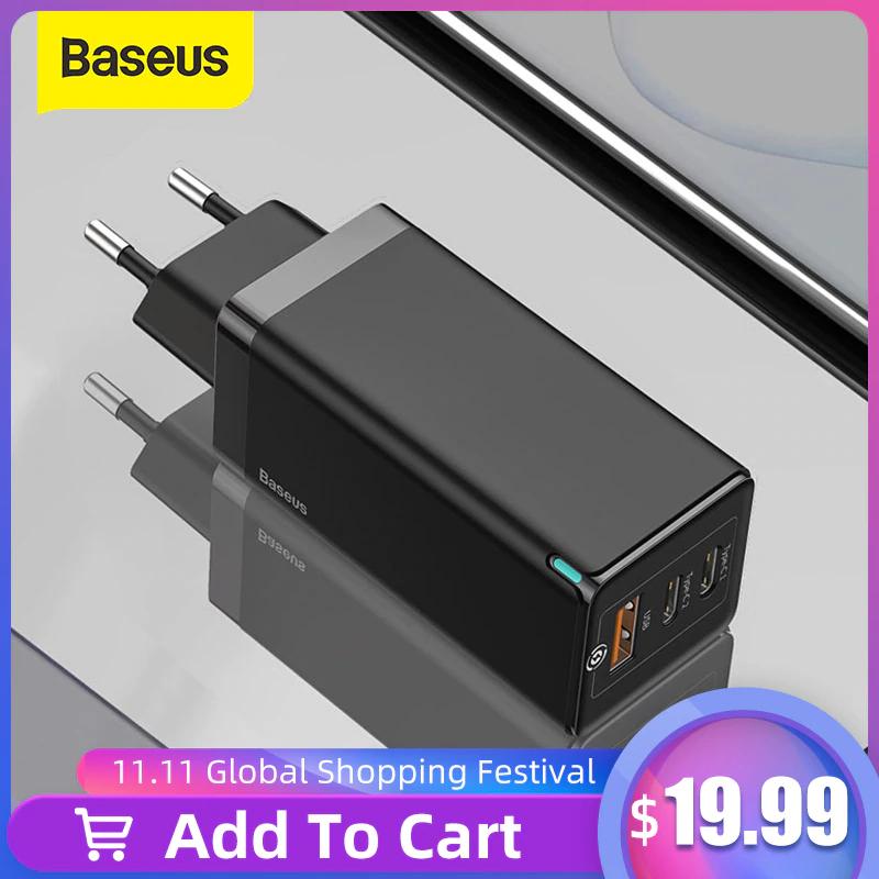Ładowarka Baseus 65W QC3.0 QC4.0 | darmowa wysyłka z PL | oferta na 11.11 $17,99