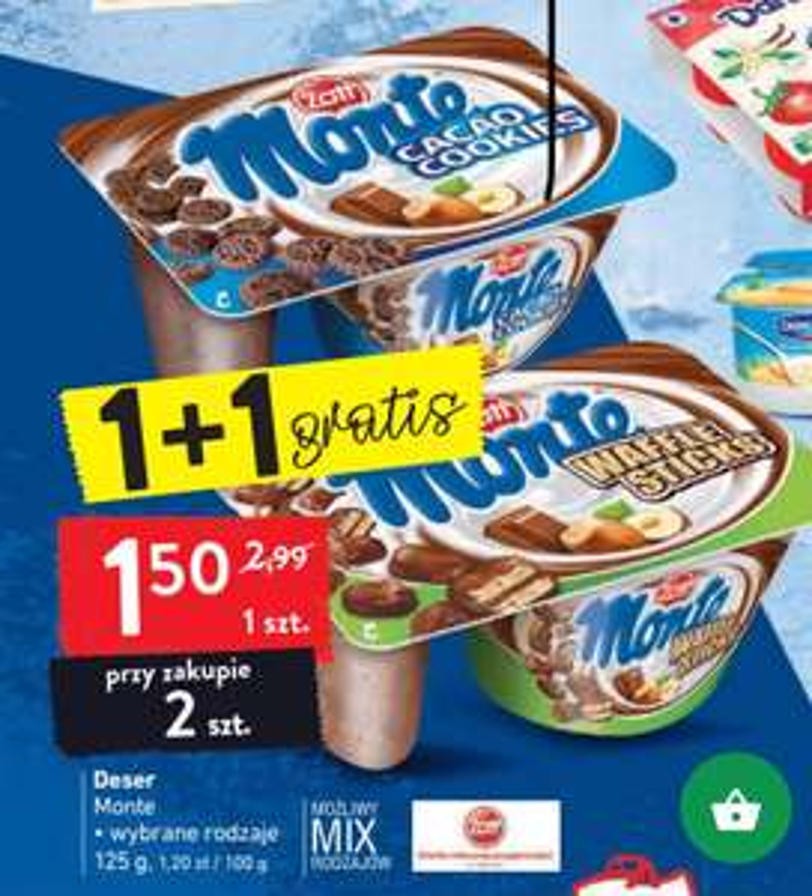 Deser Monte 1+1gratis Intermarche