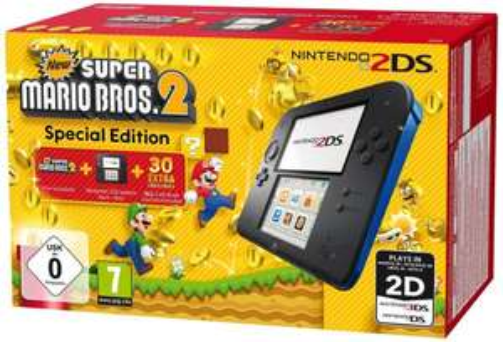 Nintendo 2DS + New Super Mario Bros. 2 za ok. 320zł  @ Amazon.de