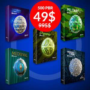 500 Creative PBR Textures Collection. $49
