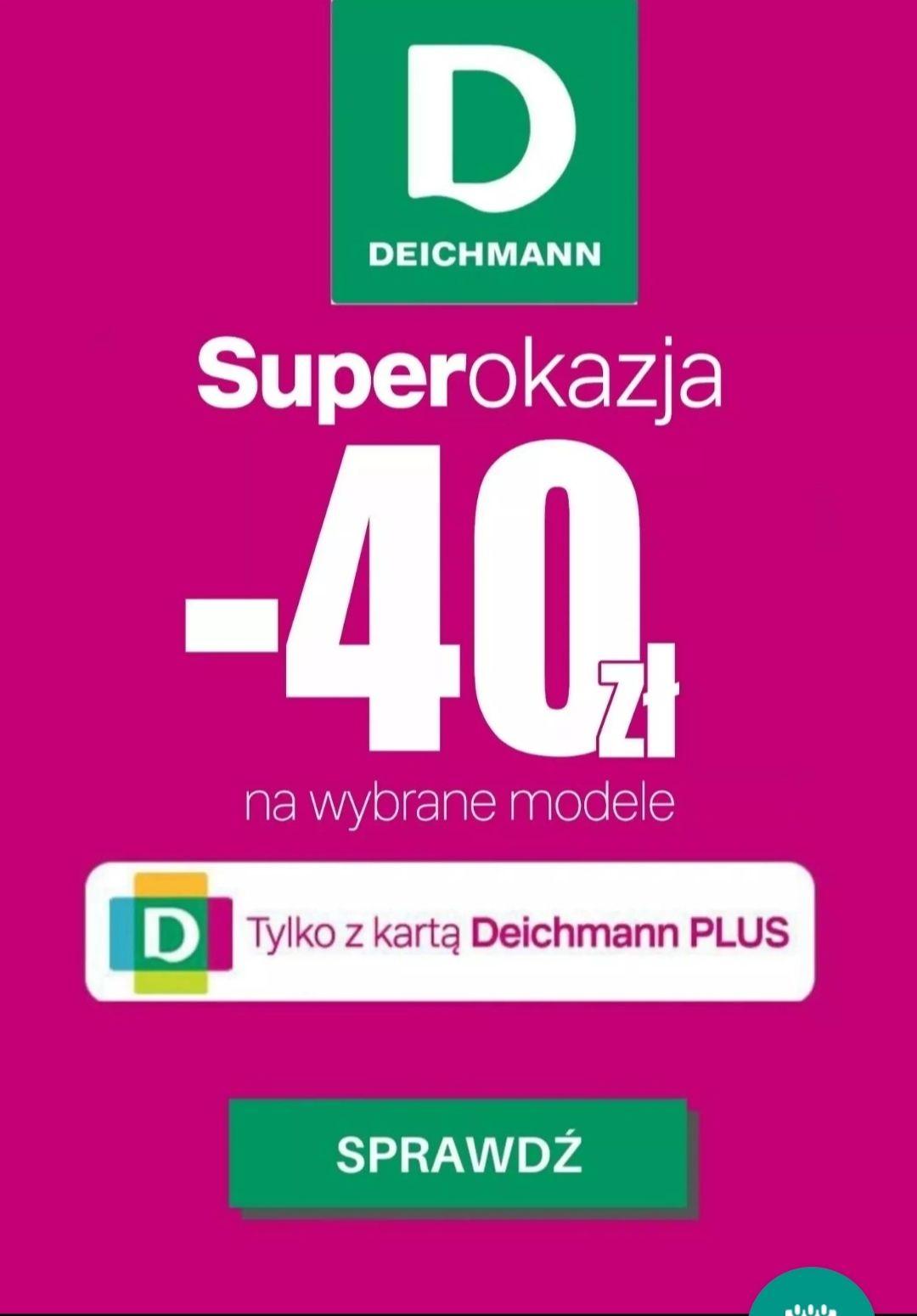 -40zł na wybrane buty z kartą Deichmann PLUS