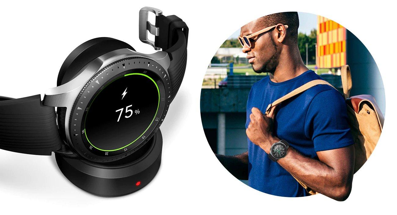 Samsung Galaxy Watch R800 46mm + Smartband Galaxy Fit e w prezencie
